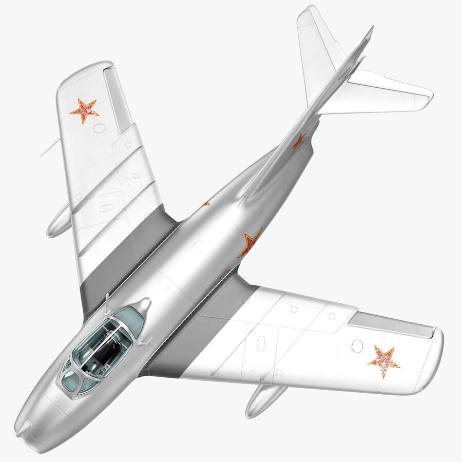 Jet Fighter MiG 15 royalty-free 3d model - Preview no. 18