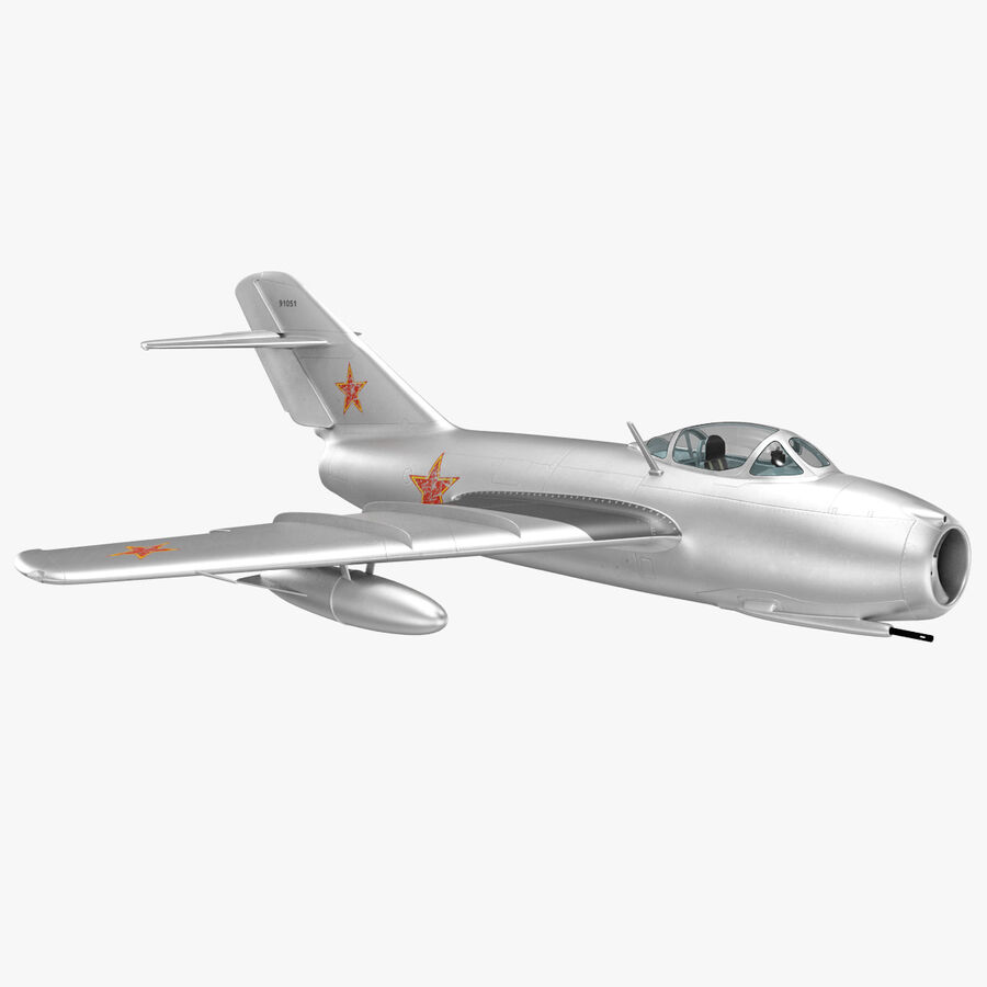 Jet Fighter MiG 15 royalty-free 3d model - Preview no. 34