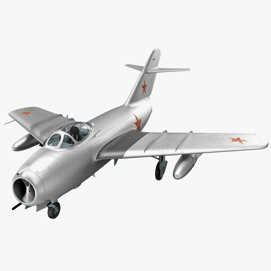 Jet Fighter MiG 15 royalty-free 3d model - Preview no. 1