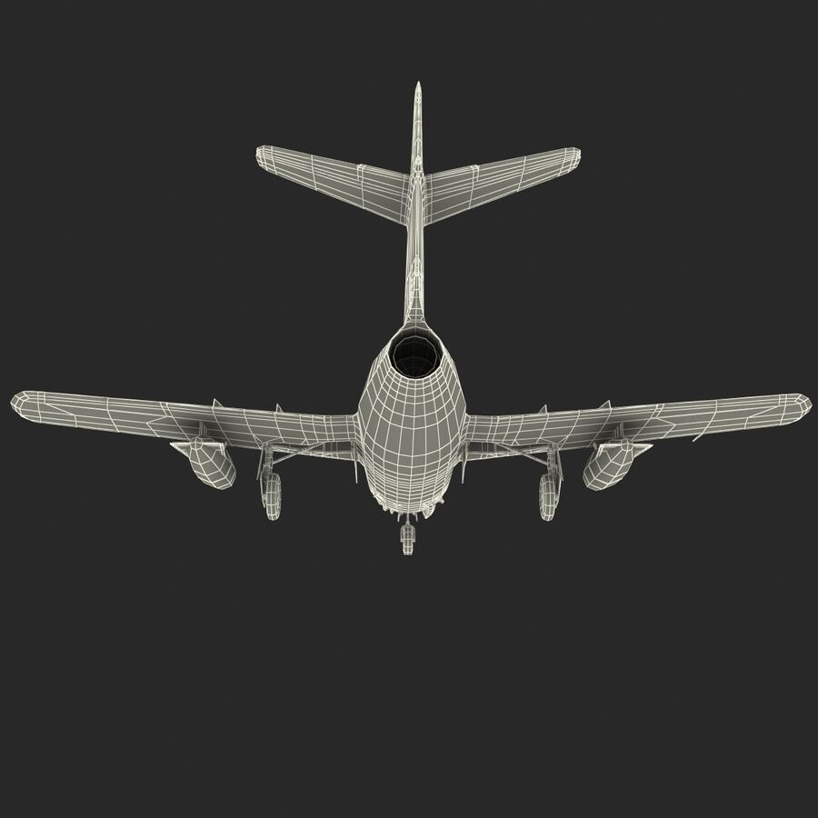 Jet Fighter MiG 15 royalty-free 3d model - Preview no. 86