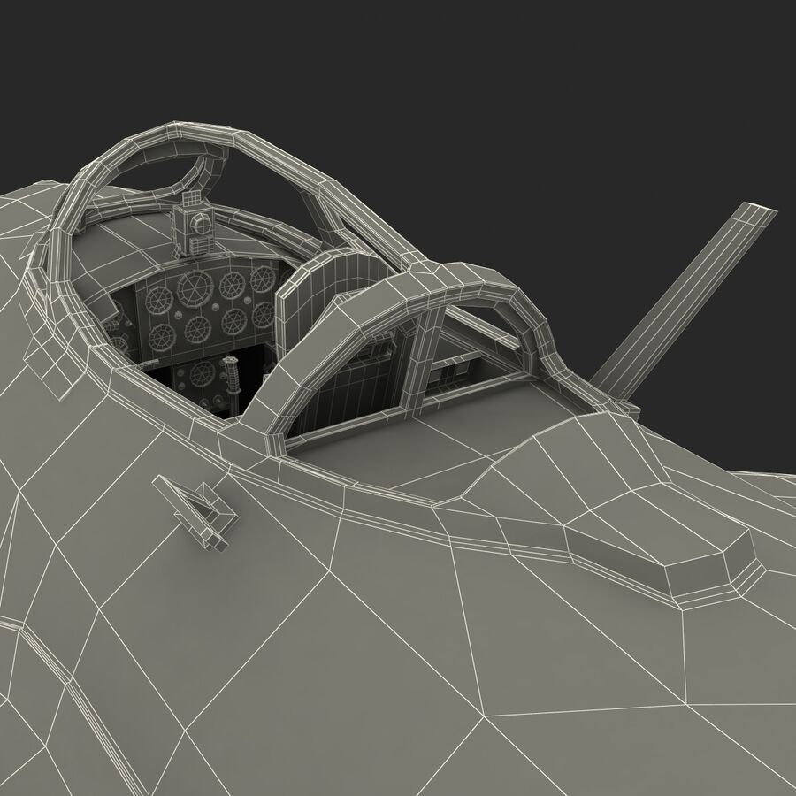 Jet Fighter MiG 15 royalty-free 3d model - Preview no. 93