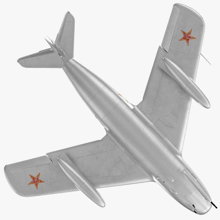 Jet Fighter MiG 15 royalty-free 3d model - Preview no. 24