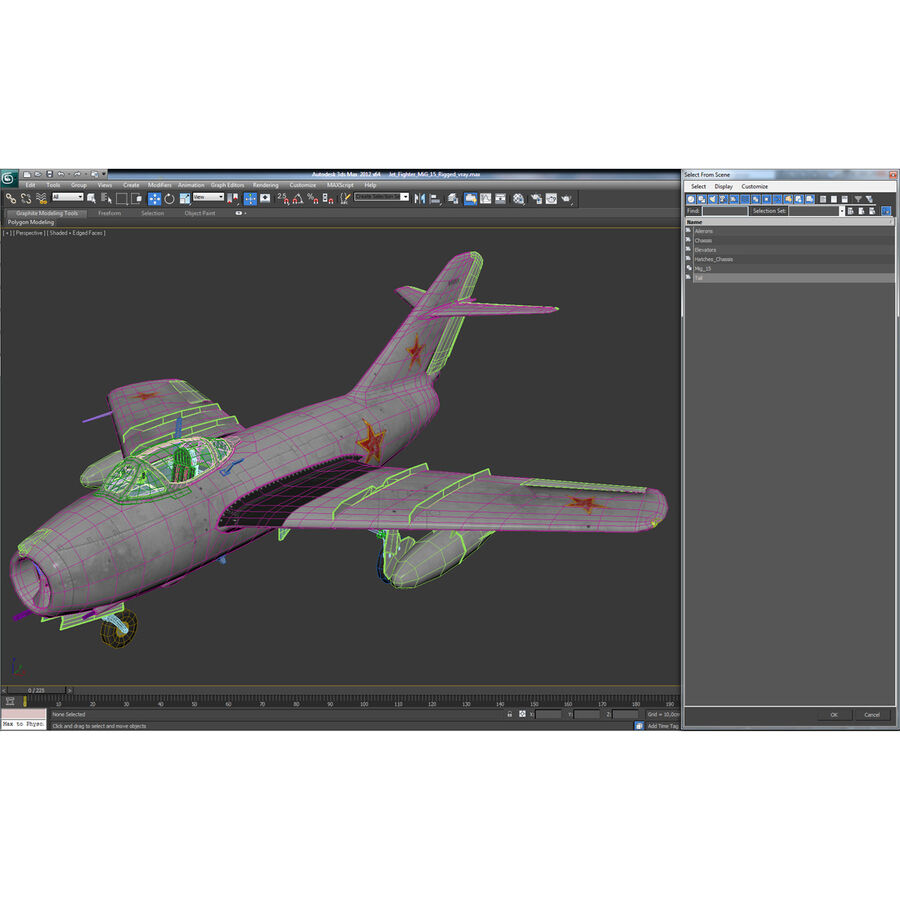 Jet Fighter MiG 15 royalty-free 3d model - Preview no. 116