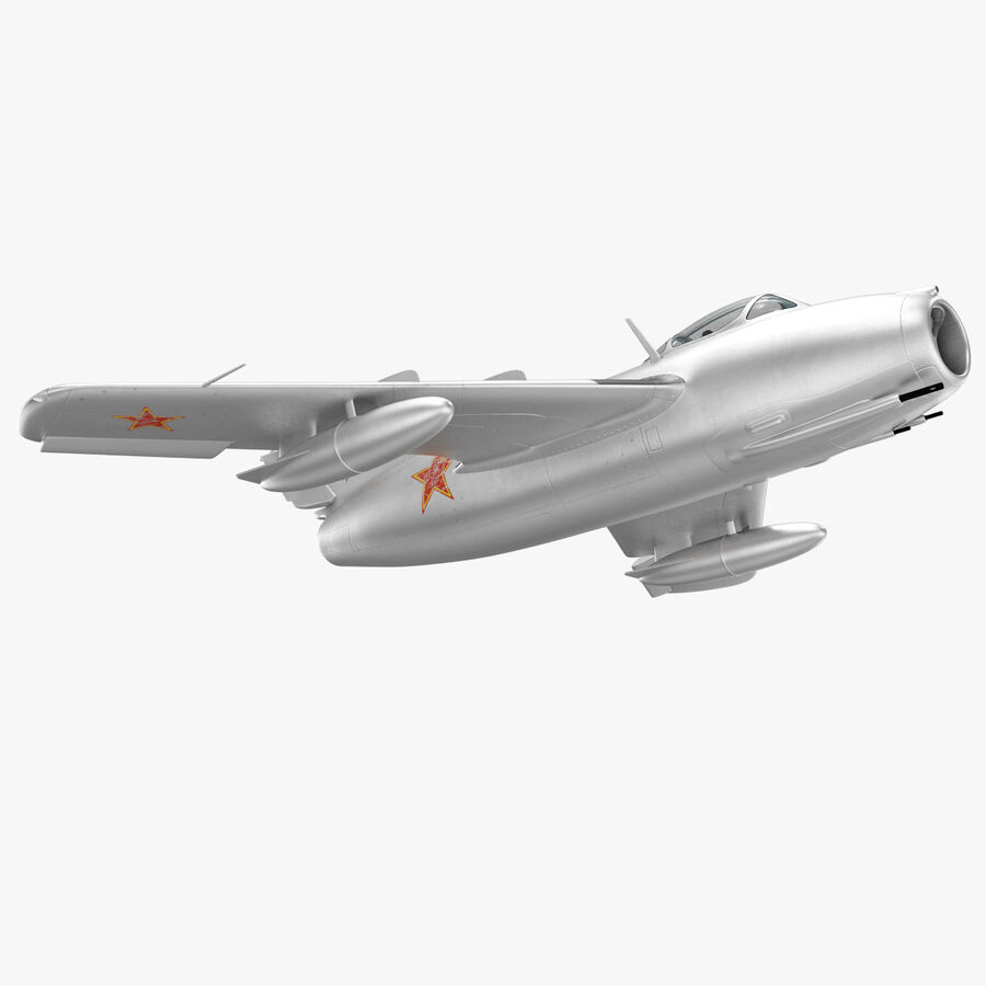 Jet Fighter MiG 15 royalty-free 3d model - Preview no. 40