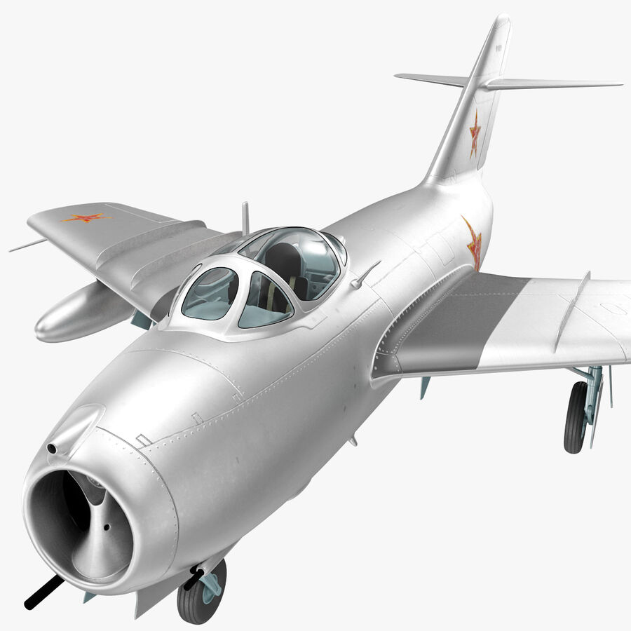 Jet Fighter MiG 15 royalty-free 3d model - Preview no. 51