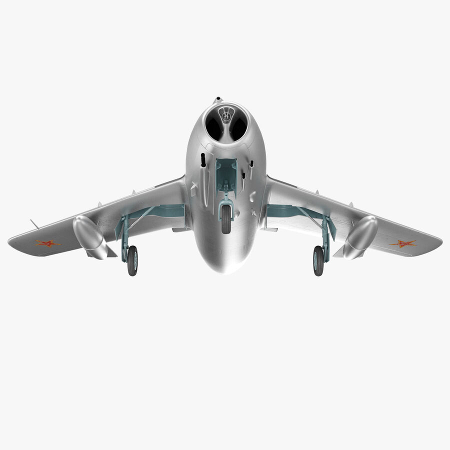 Jet Fighter MiG 15 royalty-free 3d model - Preview no. 29