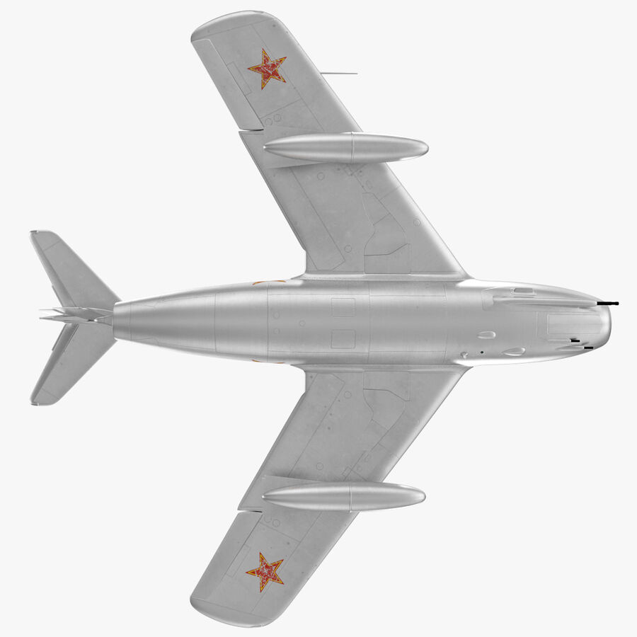 Jet Fighter MiG 15 royalty-free 3d model - Preview no. 69