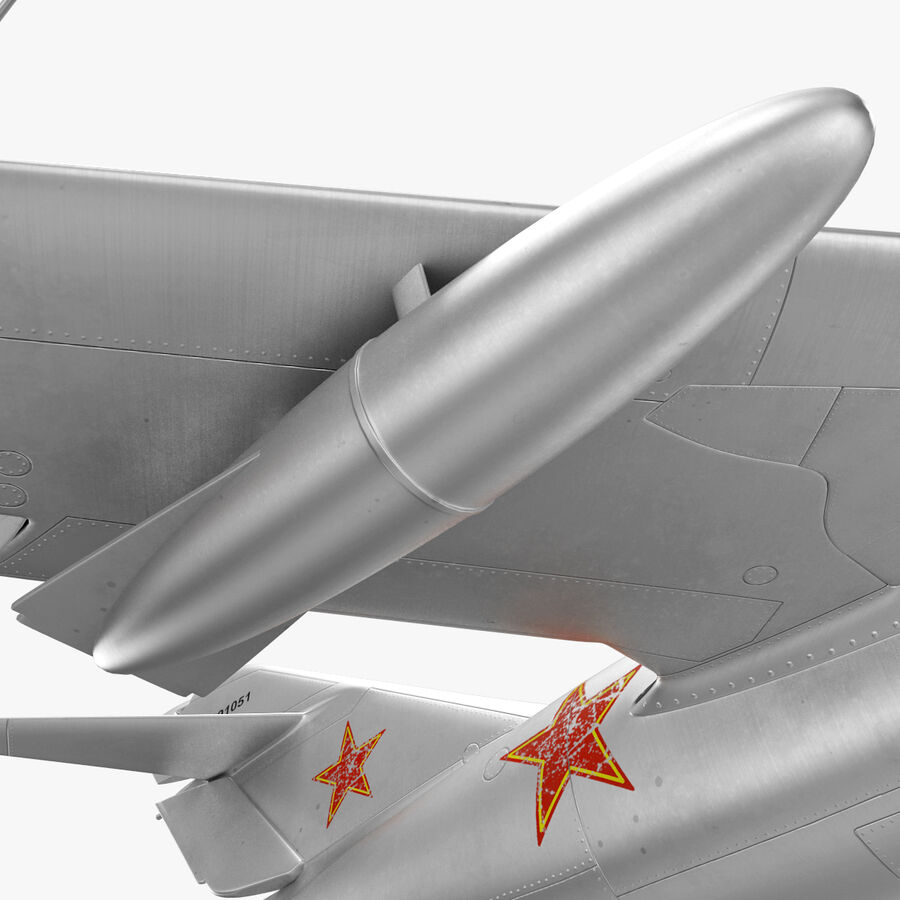 Jet Fighter MiG 15 royalty-free 3d model - Preview no. 42