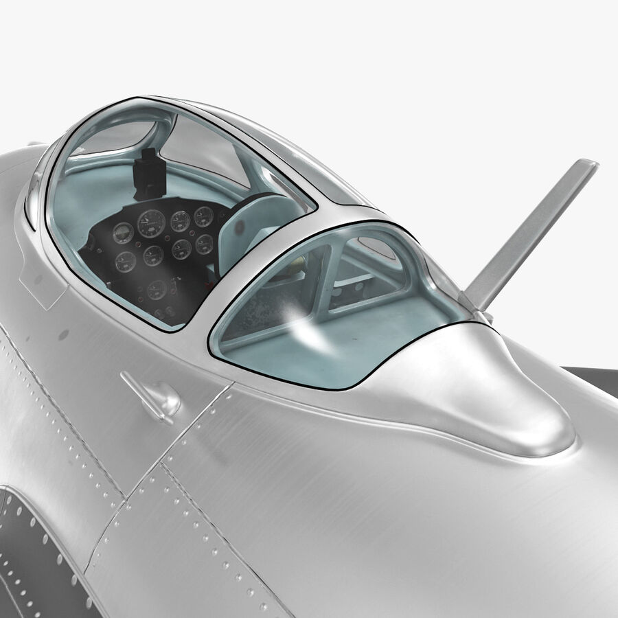 Jet Fighter MiG 15 royalty-free 3d model - Preview no. 53