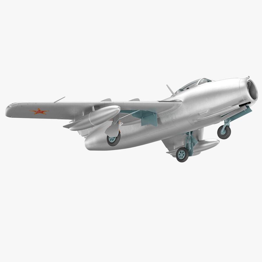 Jet Fighter MiG 15 royalty-free 3d model - Preview no. 39