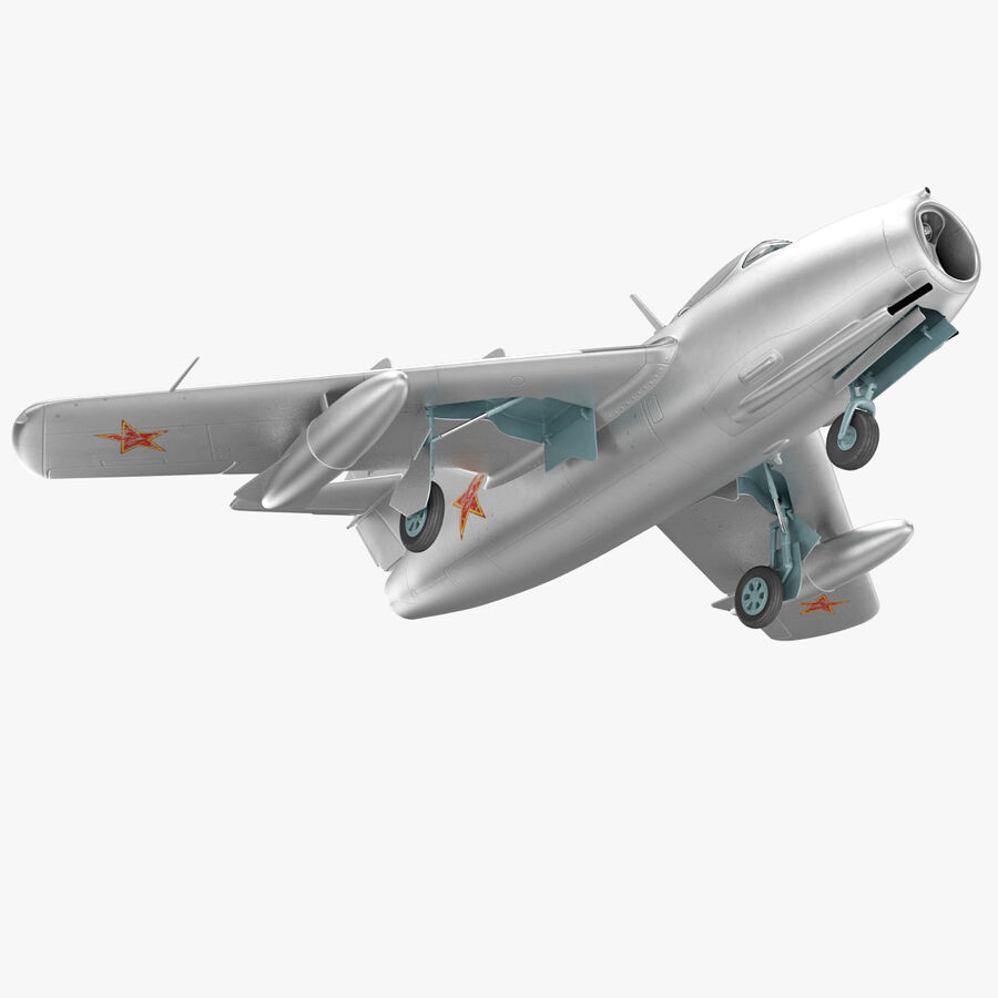 Jet Fighter MiG 15 royalty-free 3d model - Preview no. 25