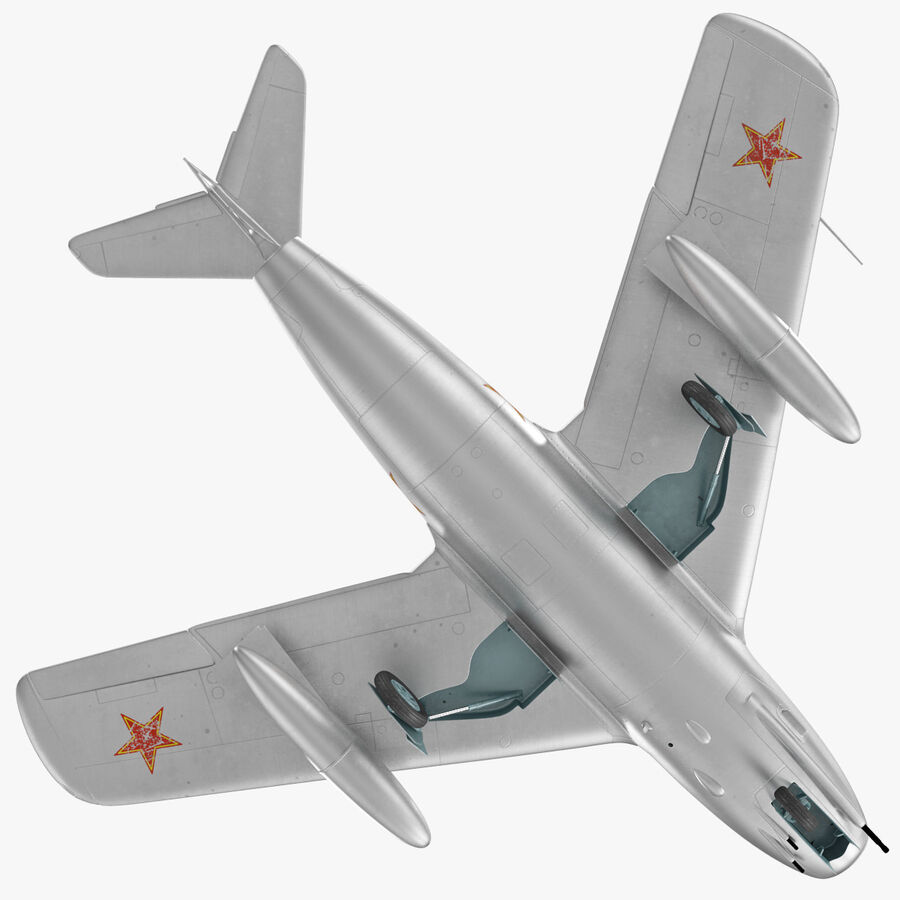 Jet Fighter MiG 15 royalty-free 3d model - Preview no. 23