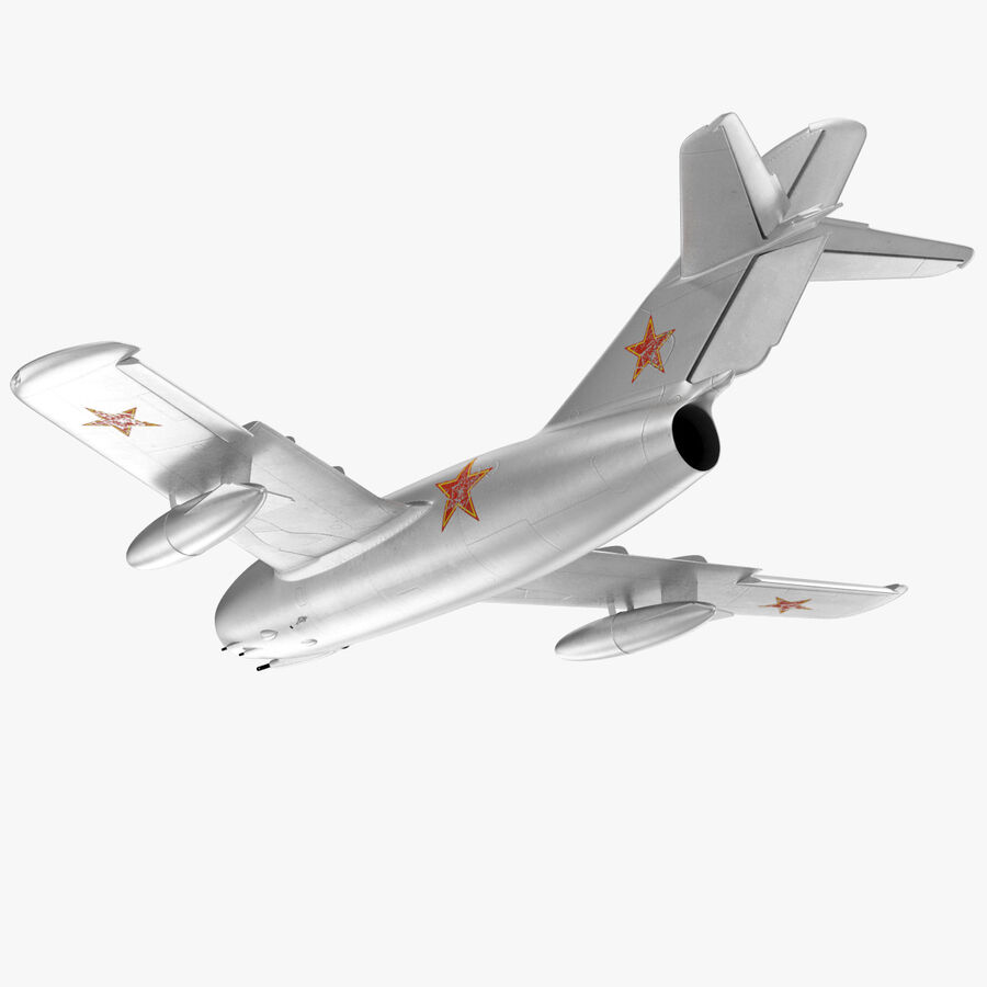 Jet Fighter MiG 15 royalty-free 3d model - Preview no. 28