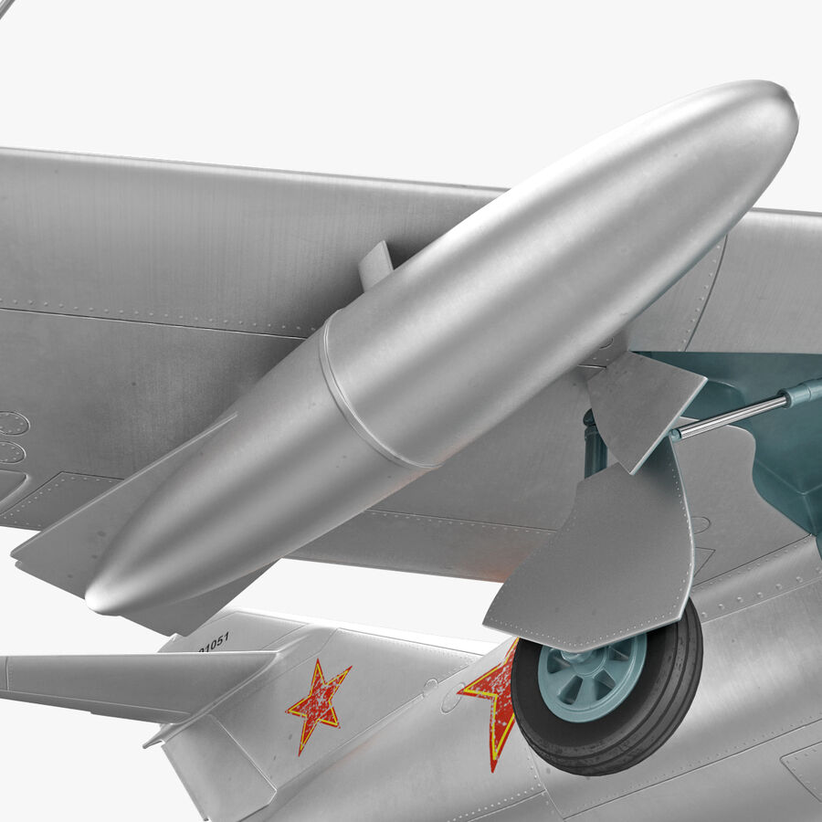 Jet Fighter MiG 15 royalty-free 3d model - Preview no. 41