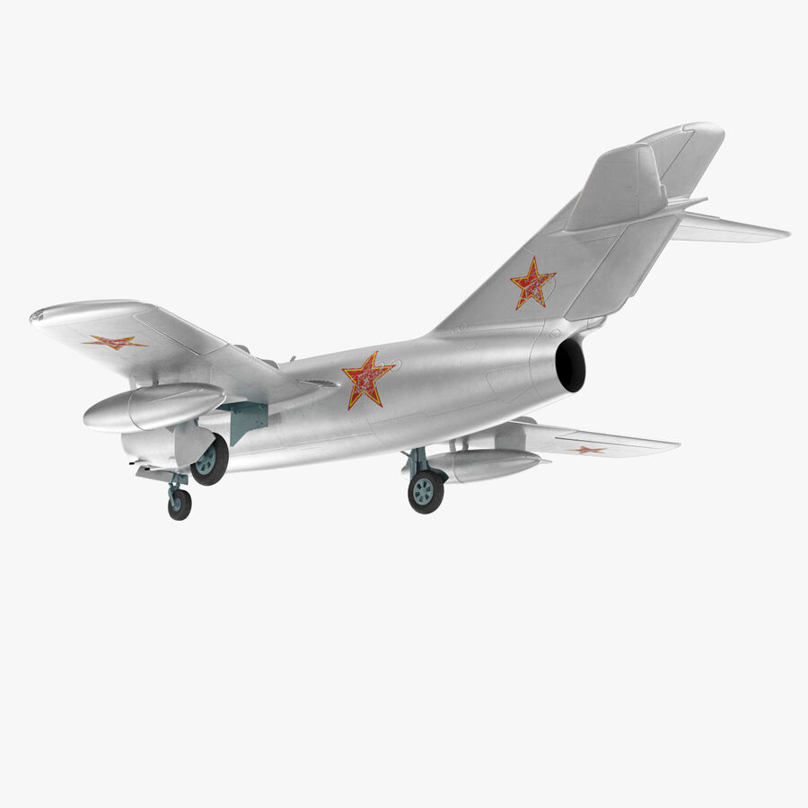 Jet Fighter MiG 15 royalty-free 3d model - Preview no. 37