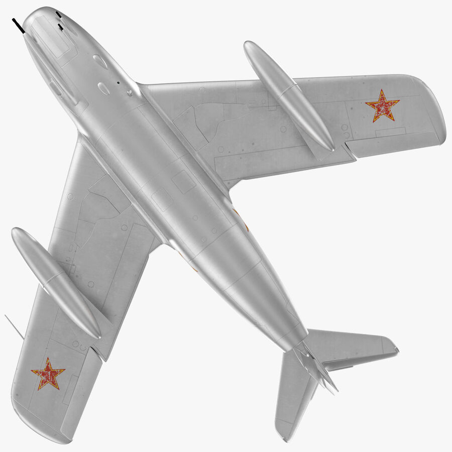 Jet Fighter MiG 15 royalty-free 3d model - Preview no. 22