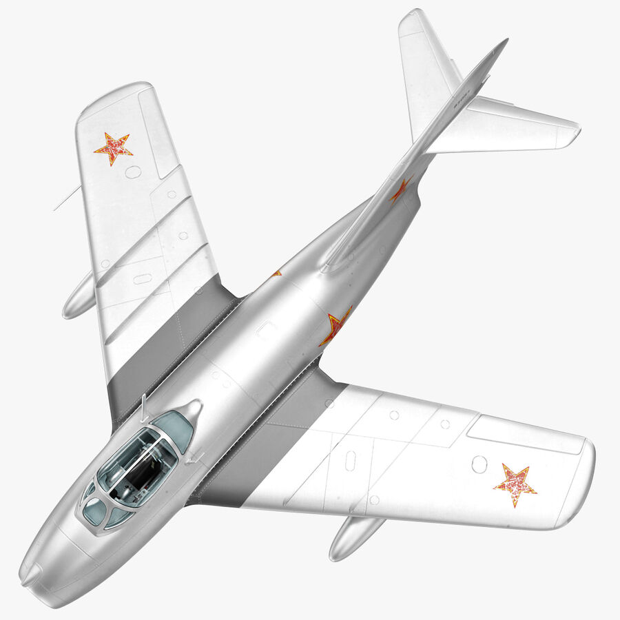 Jet Fighter MiG 15 royalty-free 3d model - Preview no. 17