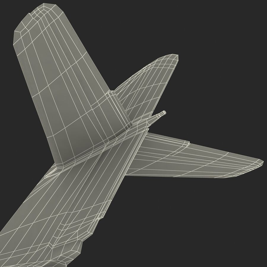 Jet Fighter MiG 15 royalty-free 3d model - Preview no. 97