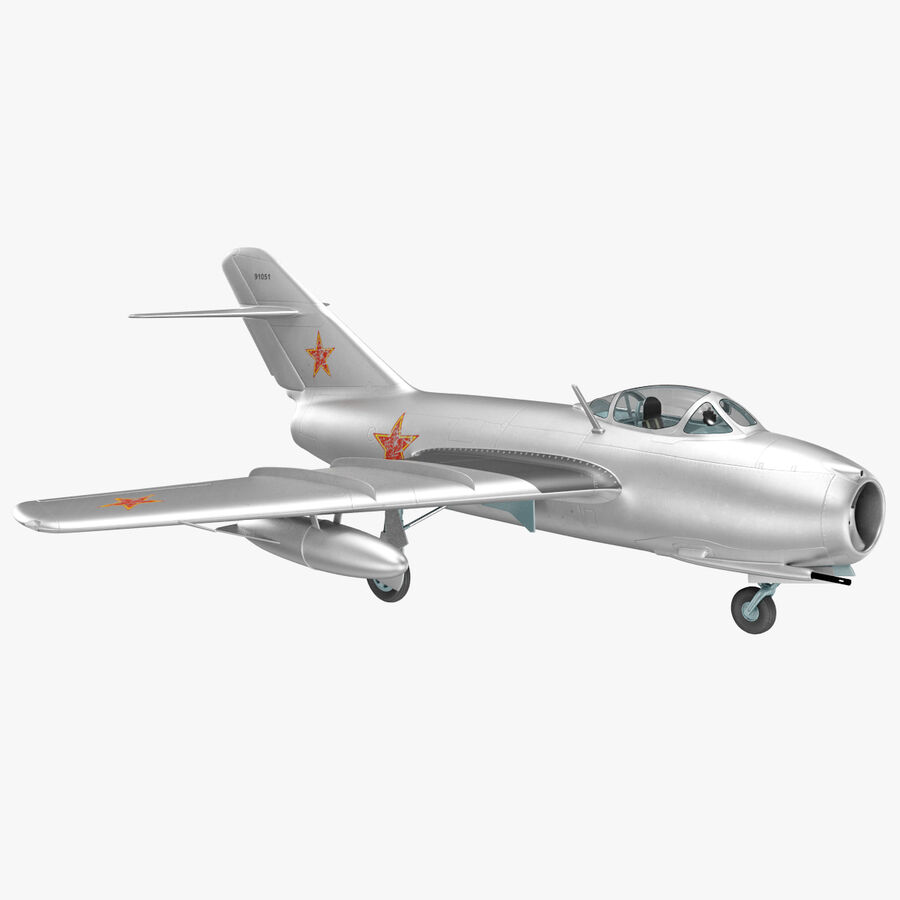 Jet Fighter MiG 15 royalty-free 3d model - Preview no. 33