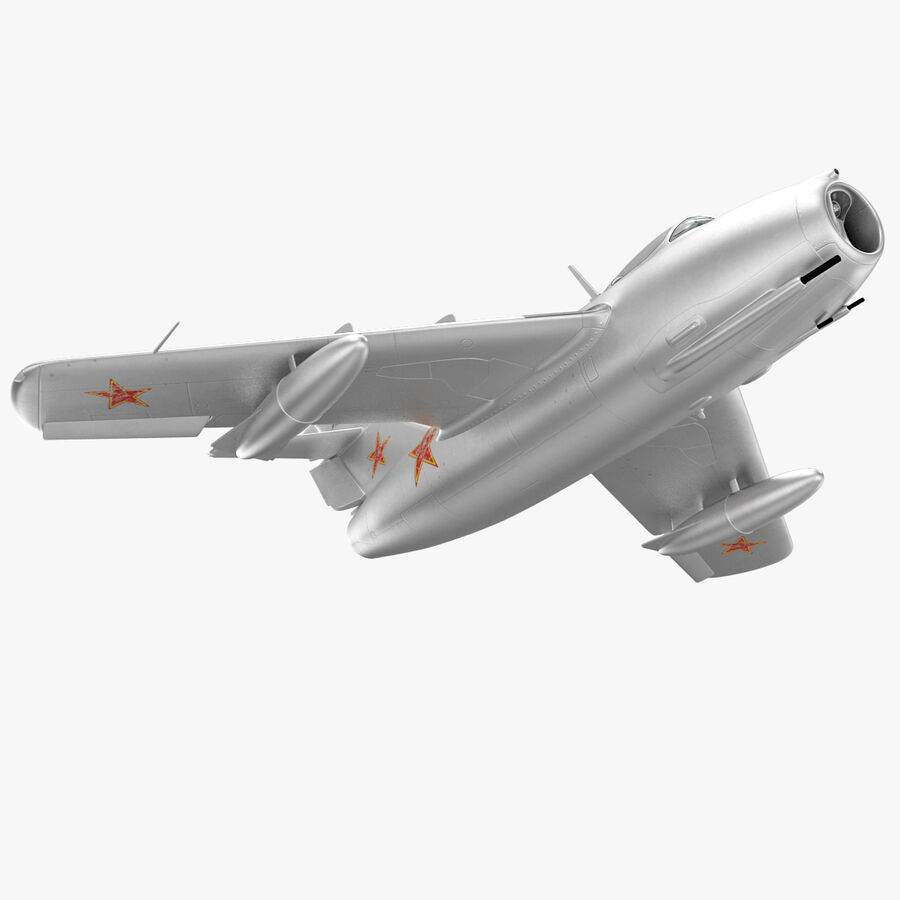 Jet Fighter MiG 15 royalty-free 3d model - Preview no. 26