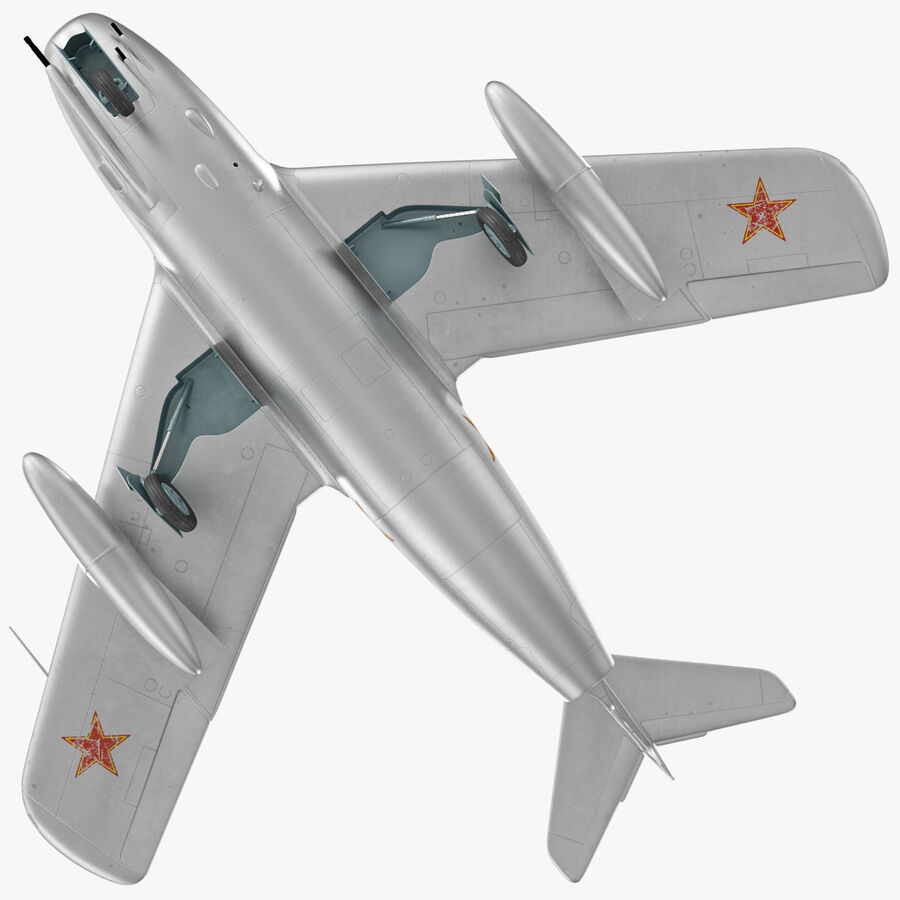Jet Fighter MiG 15 royalty-free 3d model - Preview no. 21