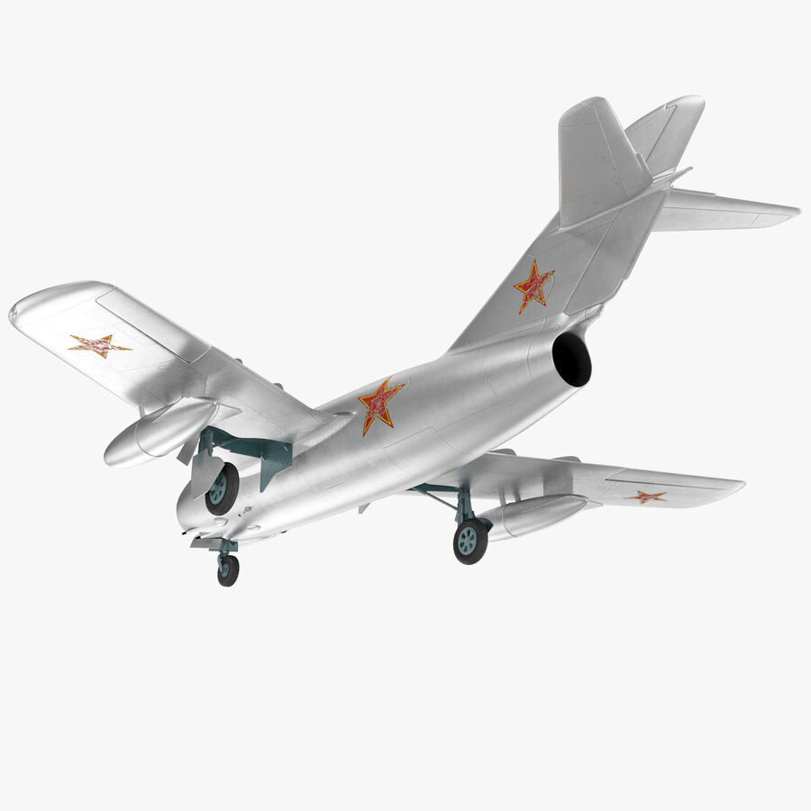 Jet Fighter MiG 15 royalty-free 3d model - Preview no. 27