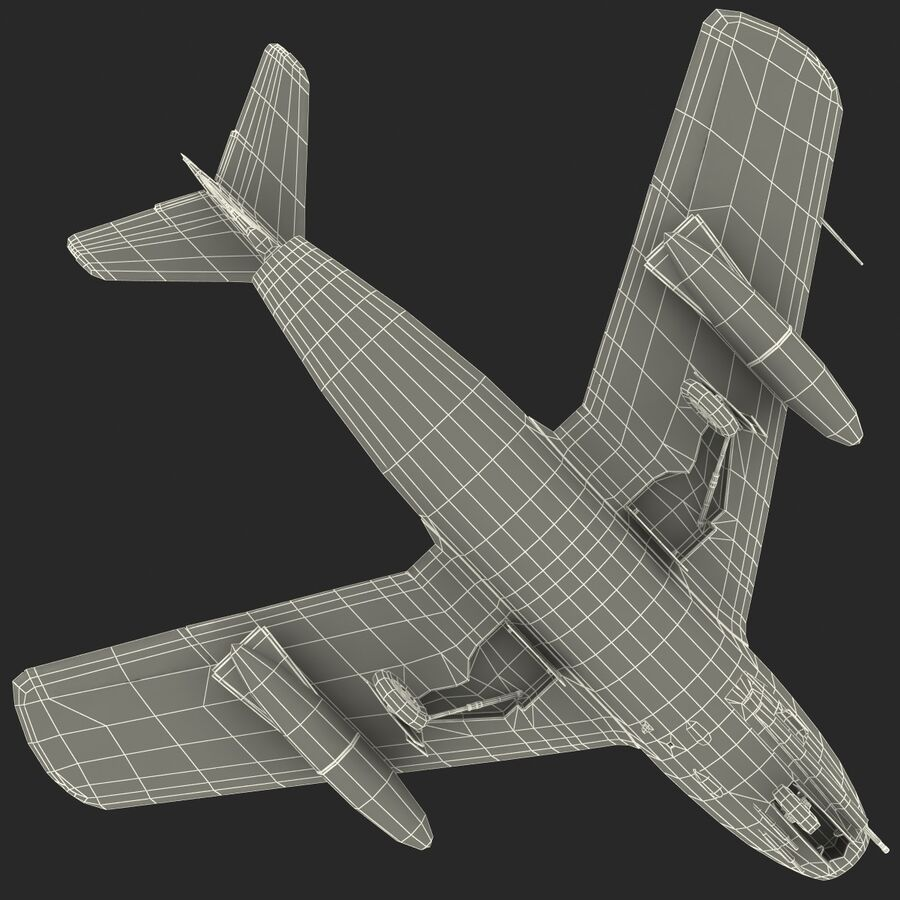 Jet Fighter MiG 15 royalty-free 3d model - Preview no. 82