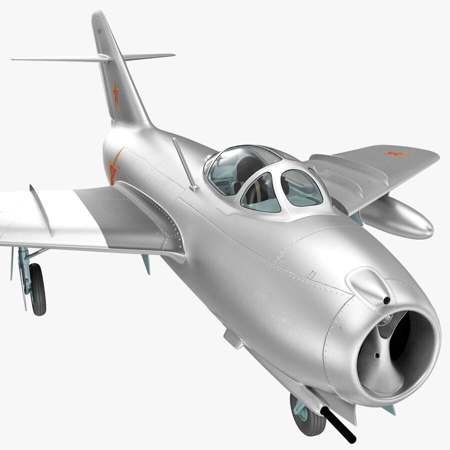 Jet Fighter MiG 15 royalty-free 3d model - Preview no. 49