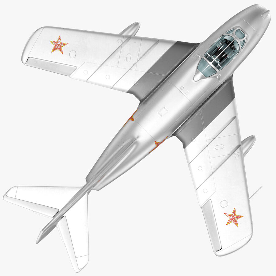 Jet Fighter MiG 15 royalty-free 3d model - Preview no. 20