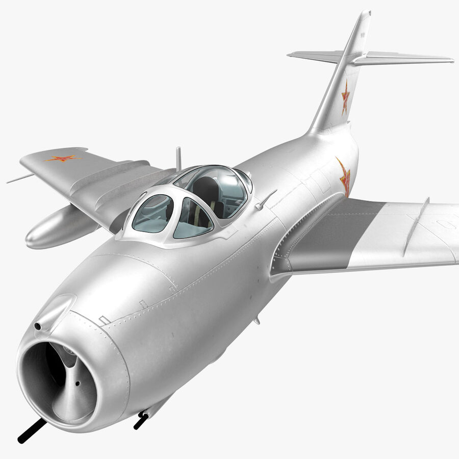 Jet Fighter MiG 15 royalty-free 3d model - Preview no. 52