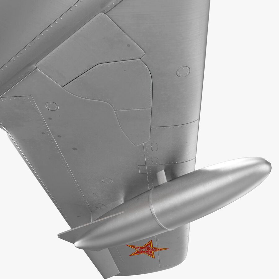 Jet Fighter MiG 15 royalty-free 3d model - Preview no. 44