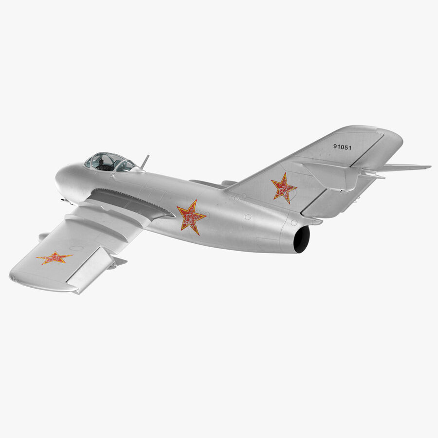 Jet Fighter MiG 15 royalty-free 3d model - Preview no. 36