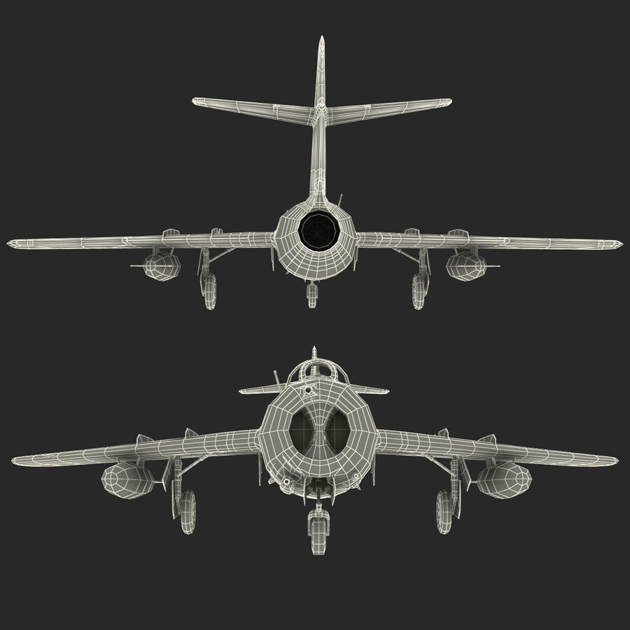 Jet Fighter MiG 15 royalty-free 3d model - Preview no. 106