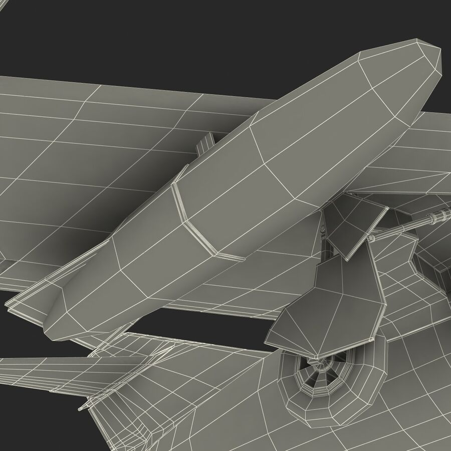 Jet Fighter MiG 15 royalty-free 3d model - Preview no. 87