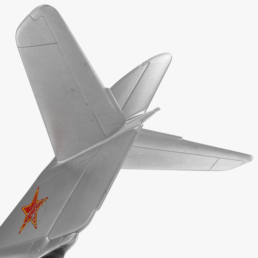 Jet Fighter MiG 15 royalty-free 3d model - Preview no. 58
