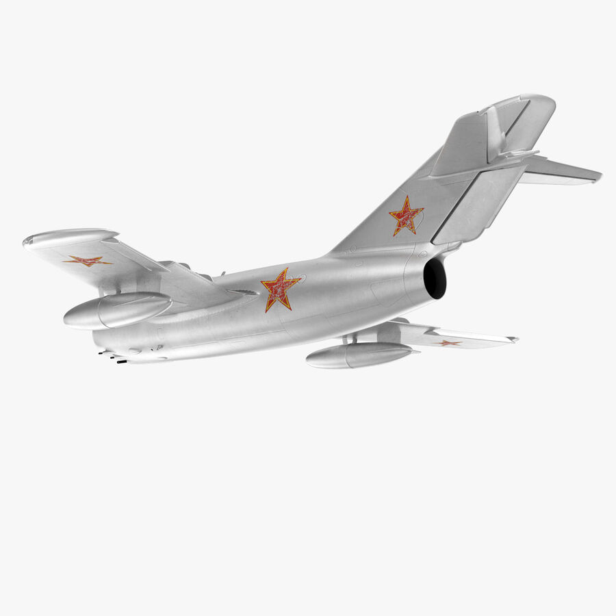 Jet Fighter MiG 15 royalty-free 3d model - Preview no. 38