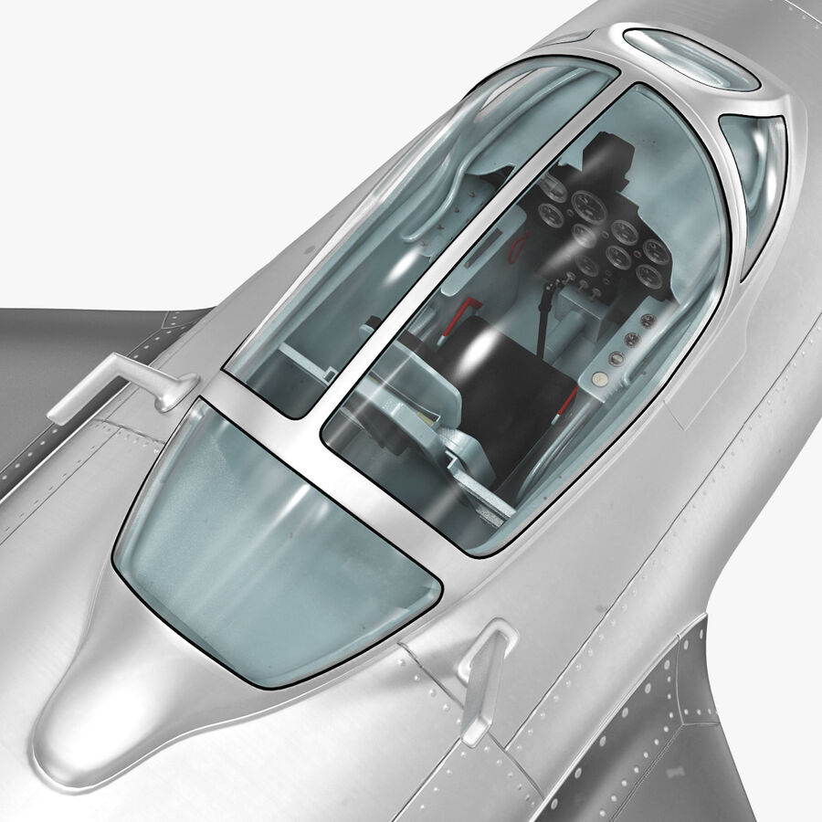 Jet Fighter MiG 15 royalty-free 3d model - Preview no. 54