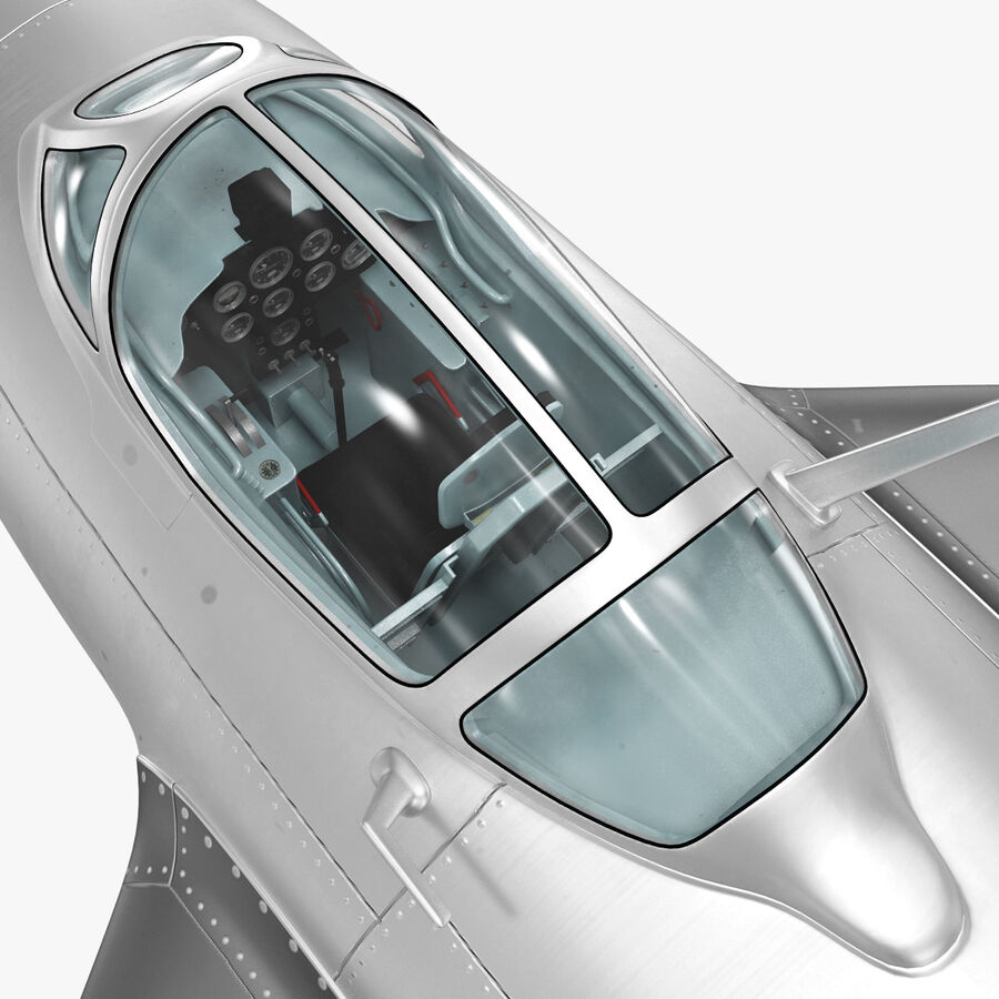 Jet Fighter MiG 15 royalty-free 3d model - Preview no. 55