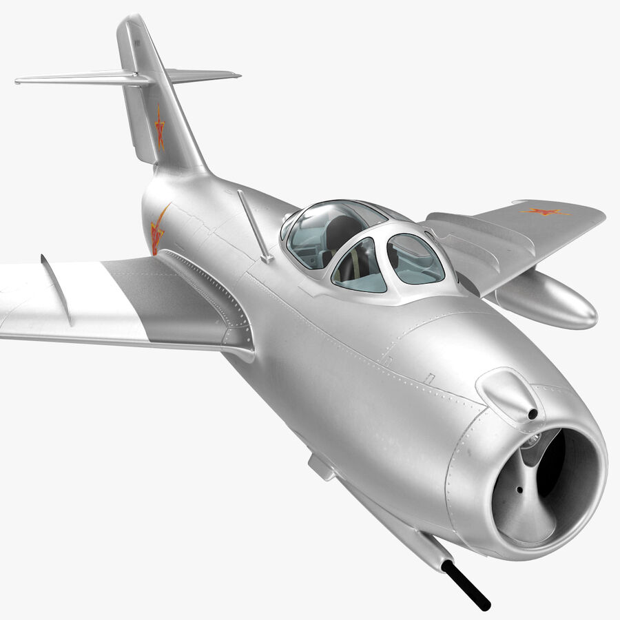 Jet Fighter MiG 15 royalty-free 3d model - Preview no. 50