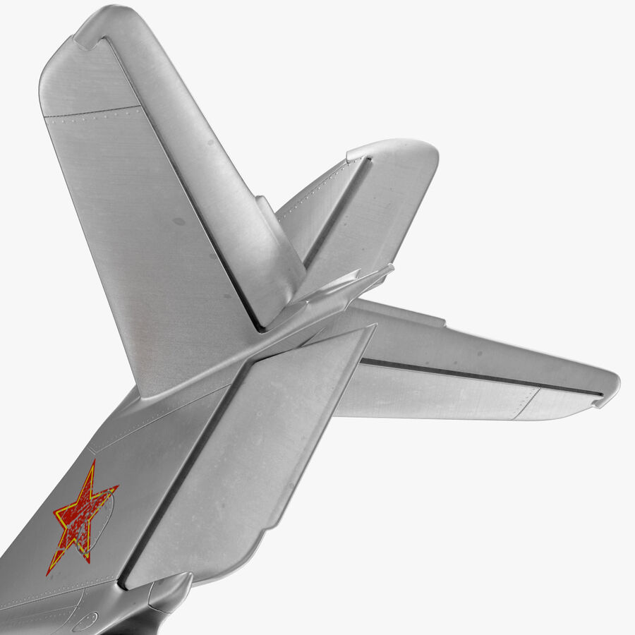 Jet Fighter MiG 15 royalty-free 3d model - Preview no. 59