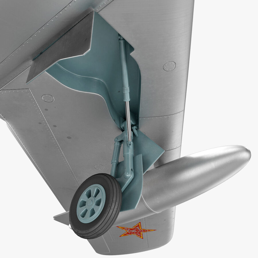 Jet Fighter MiG 15 royalty-free 3d model - Preview no. 43
