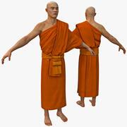 Buddistisk munk 3d model