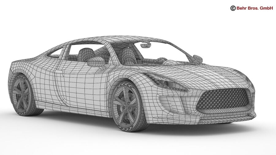 Generic Sports Car royalty-free 3d model - Preview no. 21