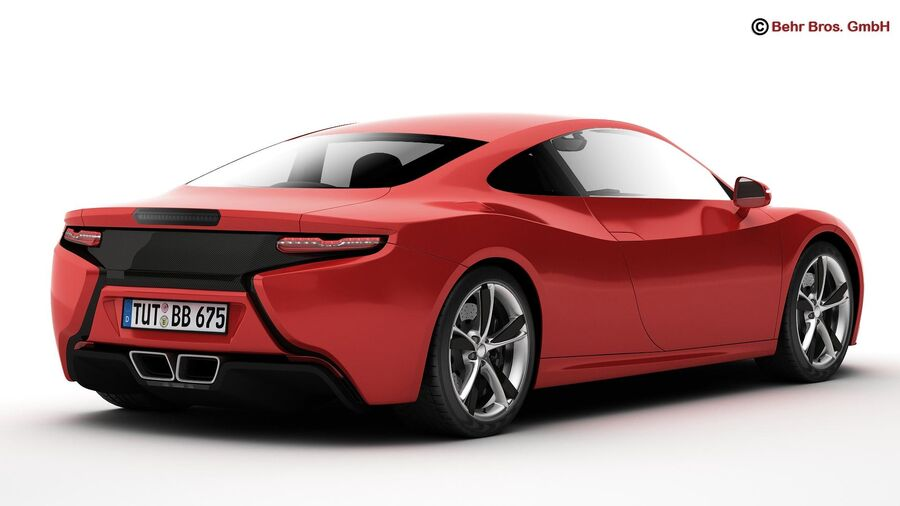 Generic Sports Car royalty-free 3d model - Preview no. 7