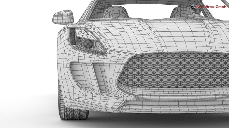 Generic Sports Car royalty-free 3d model - Preview no. 28