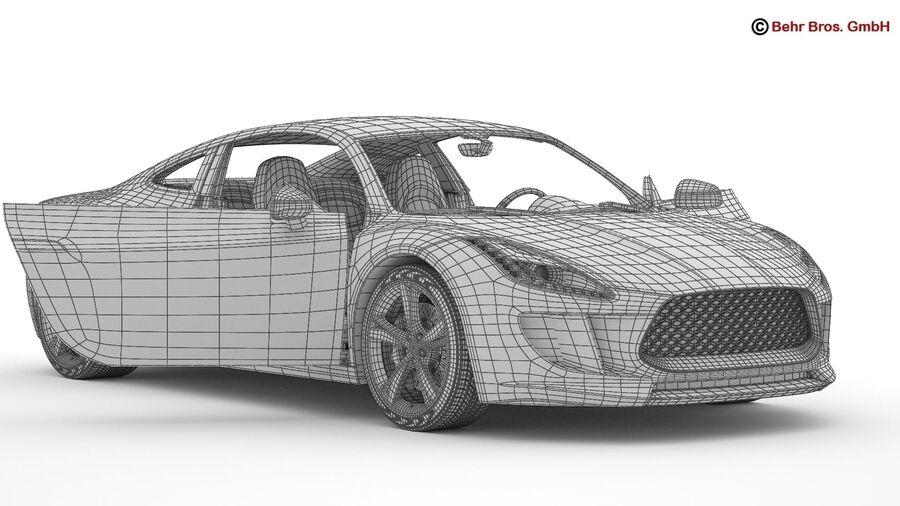 Generic Sports Car royalty-free 3d model - Preview no. 22