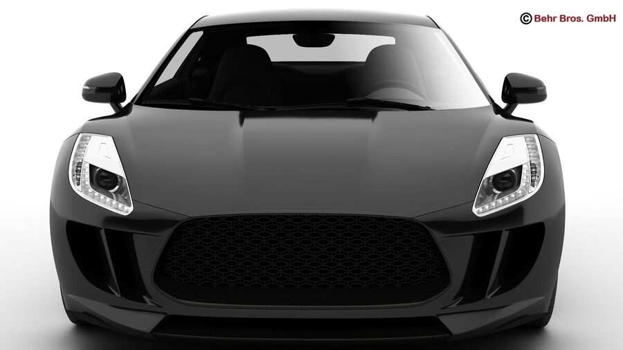 Generic Sports Car royalty-free 3d model - Preview no. 13