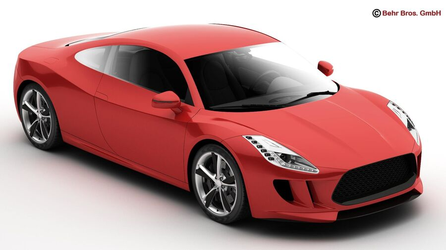 Generic Sports Car royalty-free 3d model - Preview no. 1