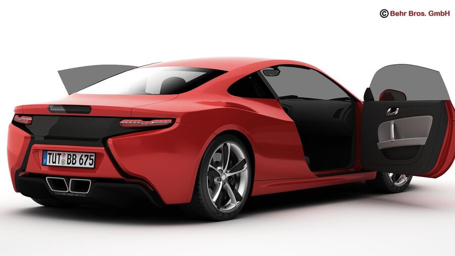 Generic Sports Car royalty-free 3d model - Preview no. 9