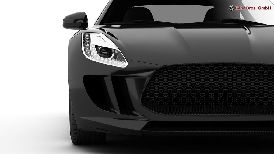 Generic Sports Car royalty-free 3d model - Preview no. 14